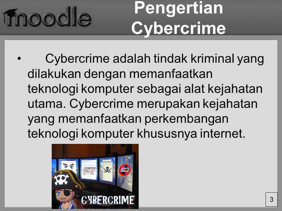 Pengertian Cybercrime