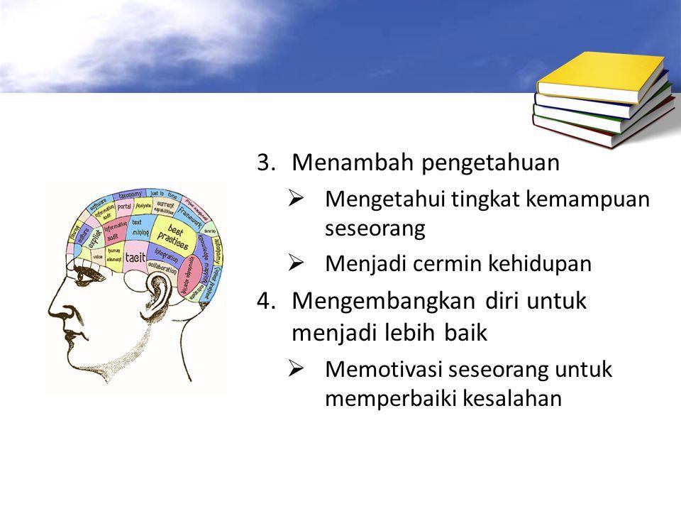 4. Mengembangkan diri untuk menjadi lebih baik