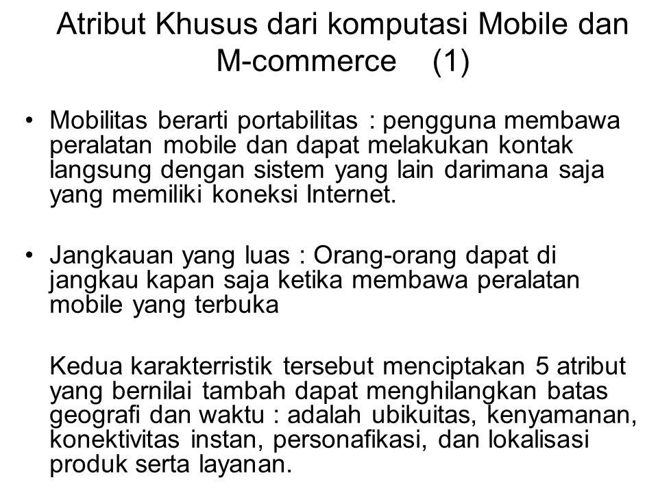 Atribut Khusus dari komputasi Mobile dan M-commerce (1)