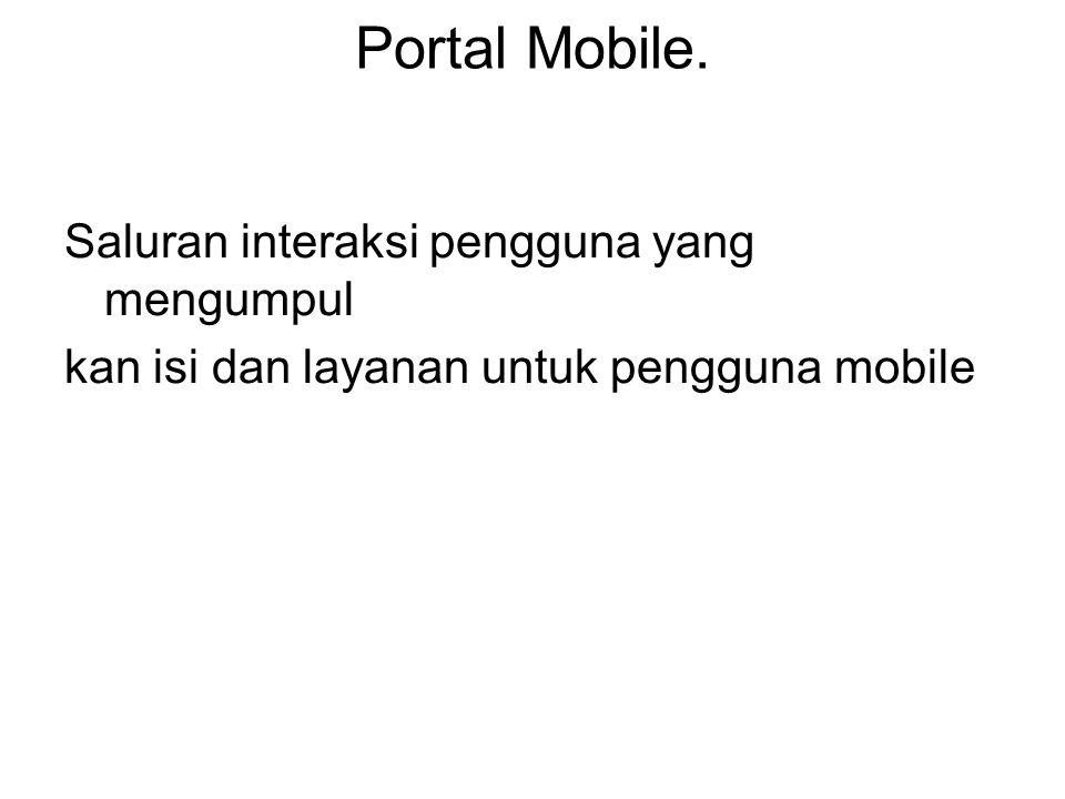 Portal Mobile. Saluran interaksi pengguna yang mengumpul