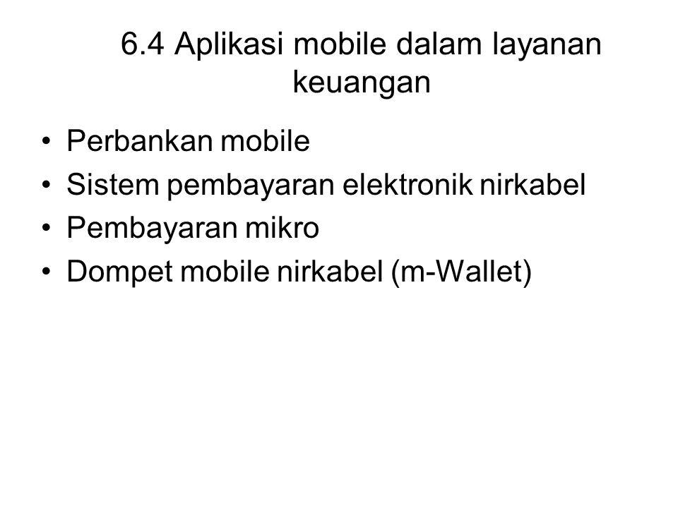 6.4 Aplikasi mobile dalam layanan keuangan
