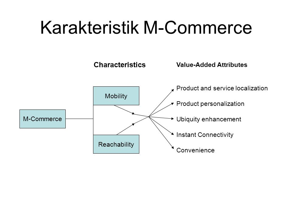 Karakteristik M-Commerce