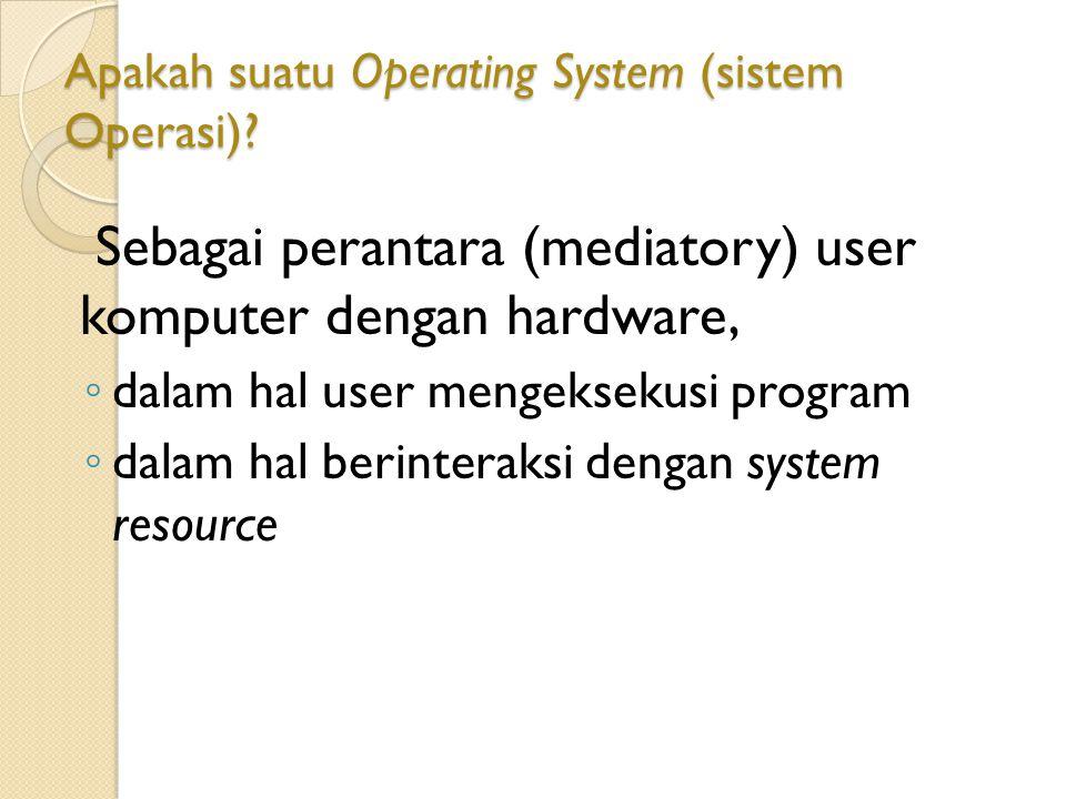 Apakah suatu Operating System (sistem Operasi)