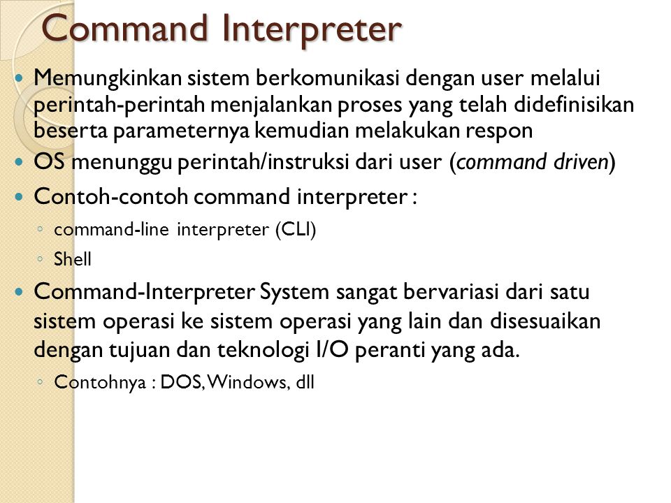 Command Interpreter