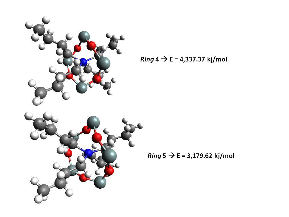 Ring 4  E = 4,337.37 kj/mol Ring 5  E = 3,179.62 kj/mol