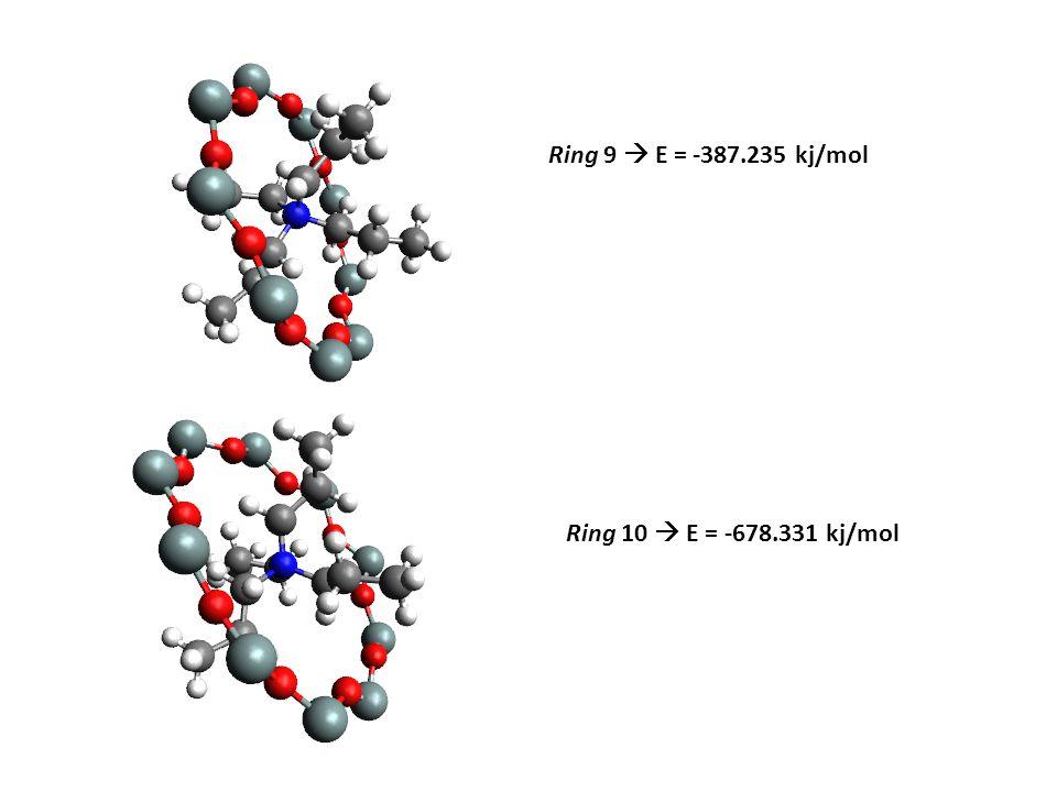 Ring 9  E = -387.235 kj/mol Ring 10  E = -678.331 kj/mol