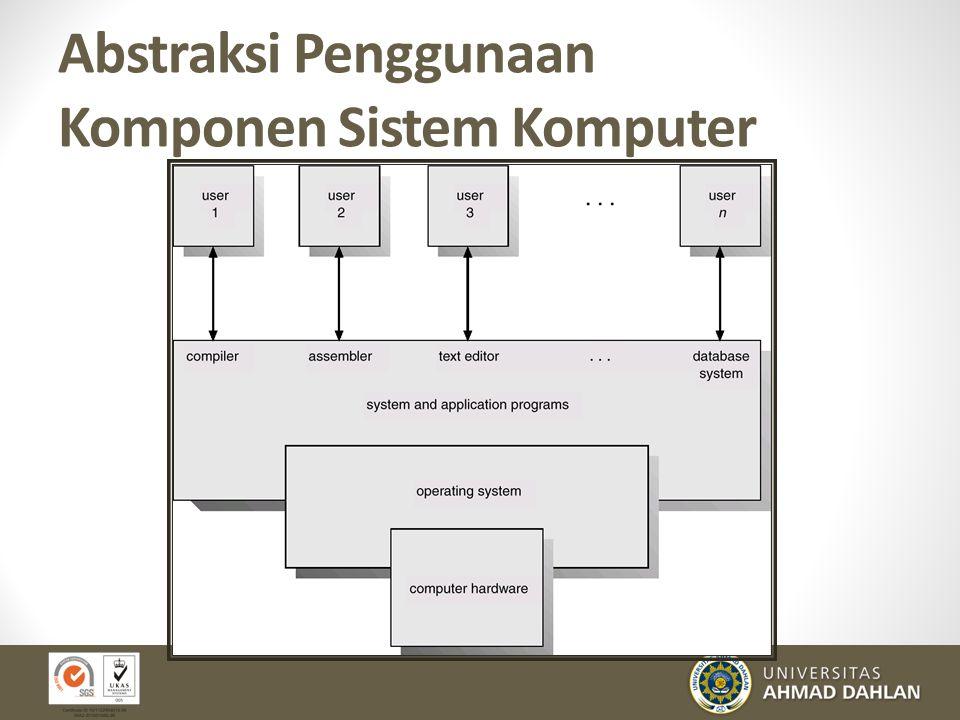 Abstraksi Penggunaan Komponen Sistem Komputer