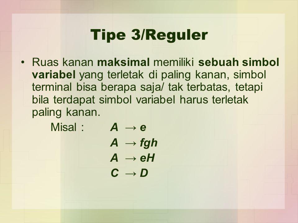 Tipe 3/Reguler