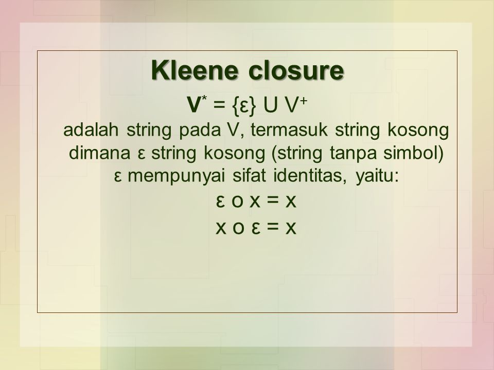 Kleene closure