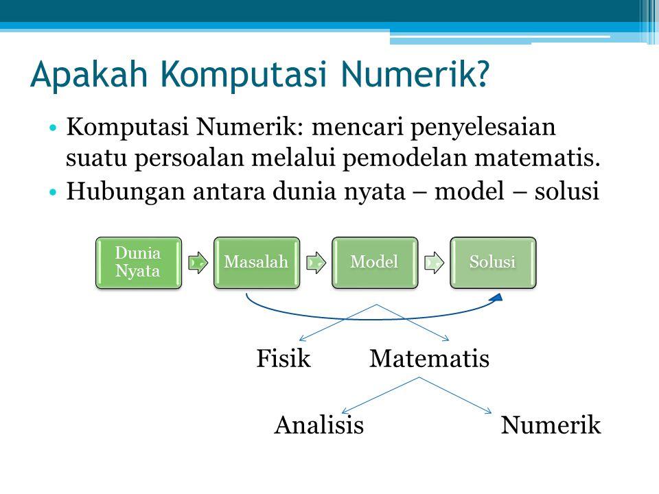 Apakah Komputasi Numerik