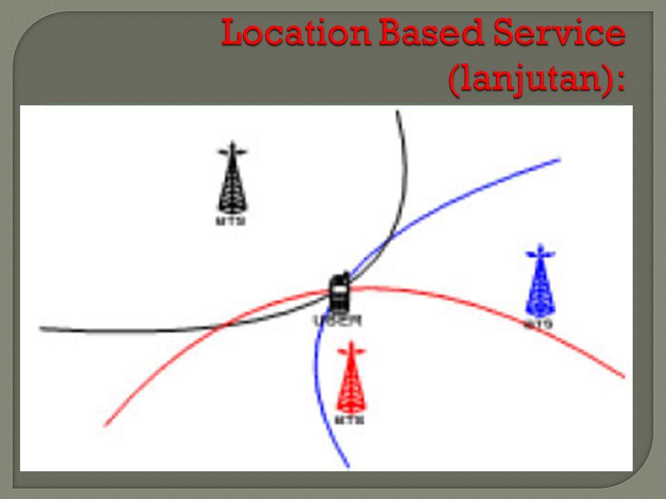 Location Based Service (lanjutan):