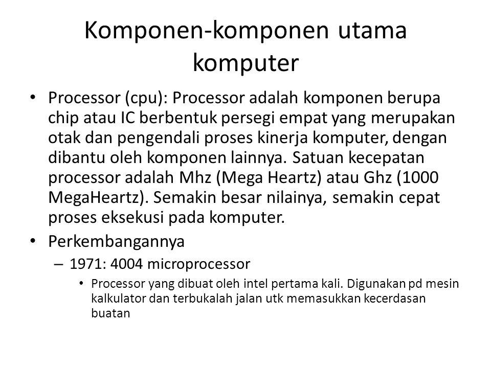 Komponen-komponen utama komputer