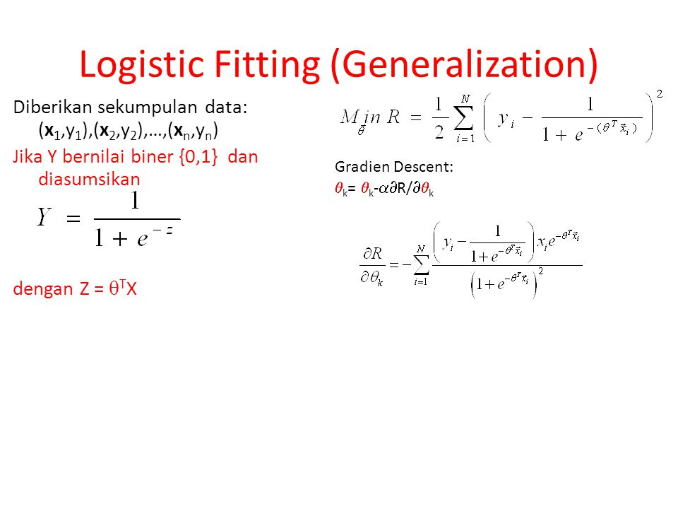 Logistic Fitting (Generalization)