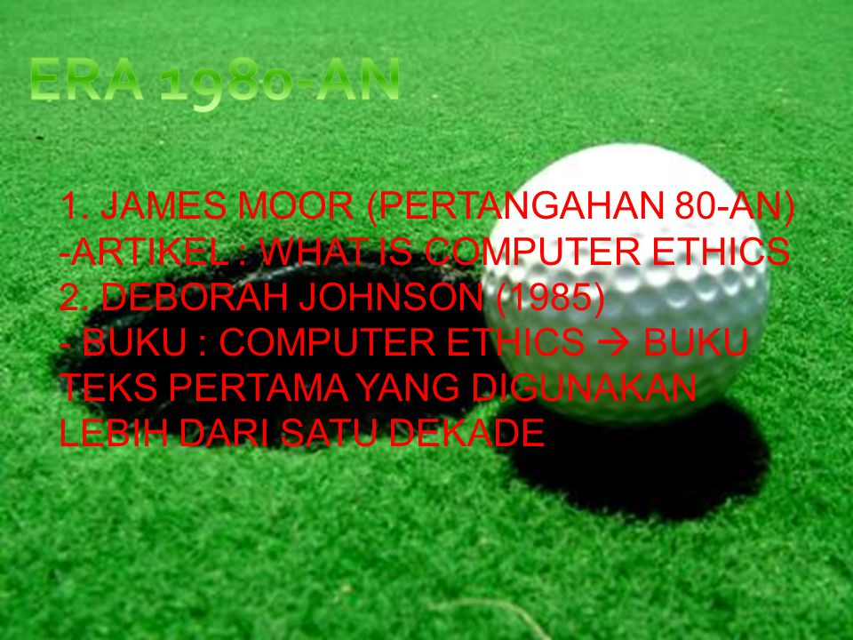 ERA 1980-AN 1. JAMES MOOR (PERTANGAHAN 80-AN)
