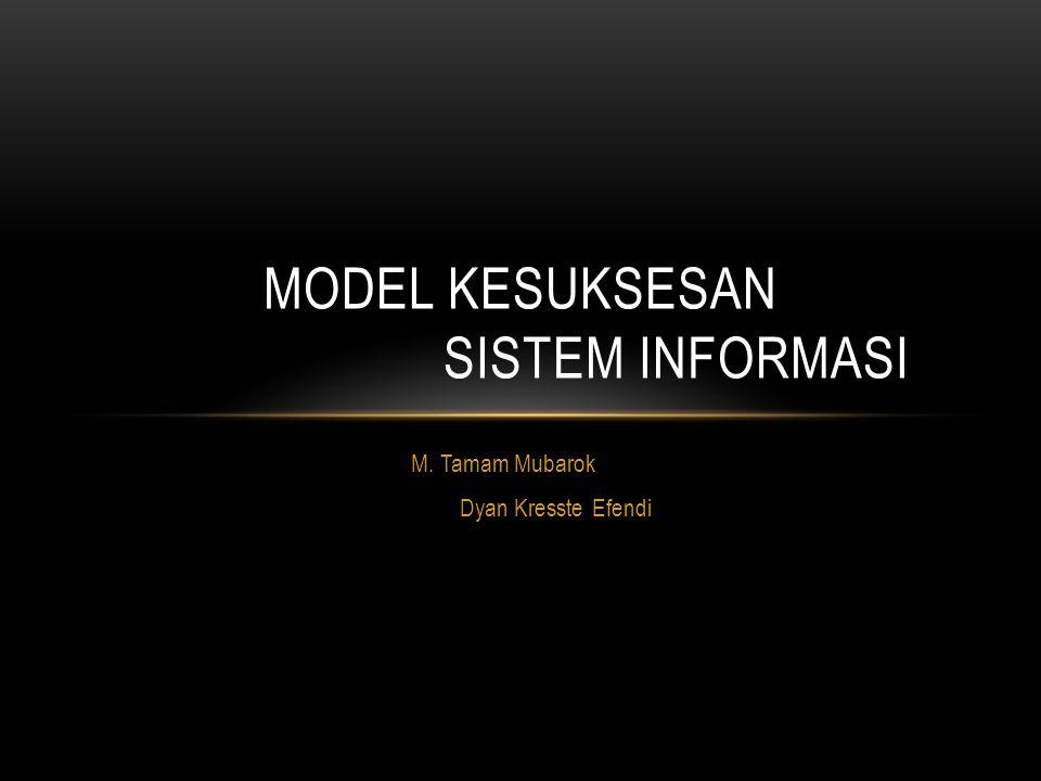 Model Kesuksesan Sistem Informasi
