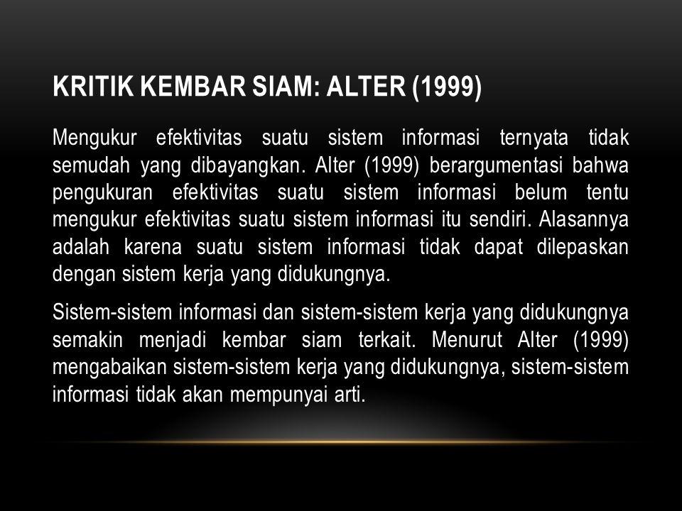 Kritik Kembar Siam: Alter (1999)
