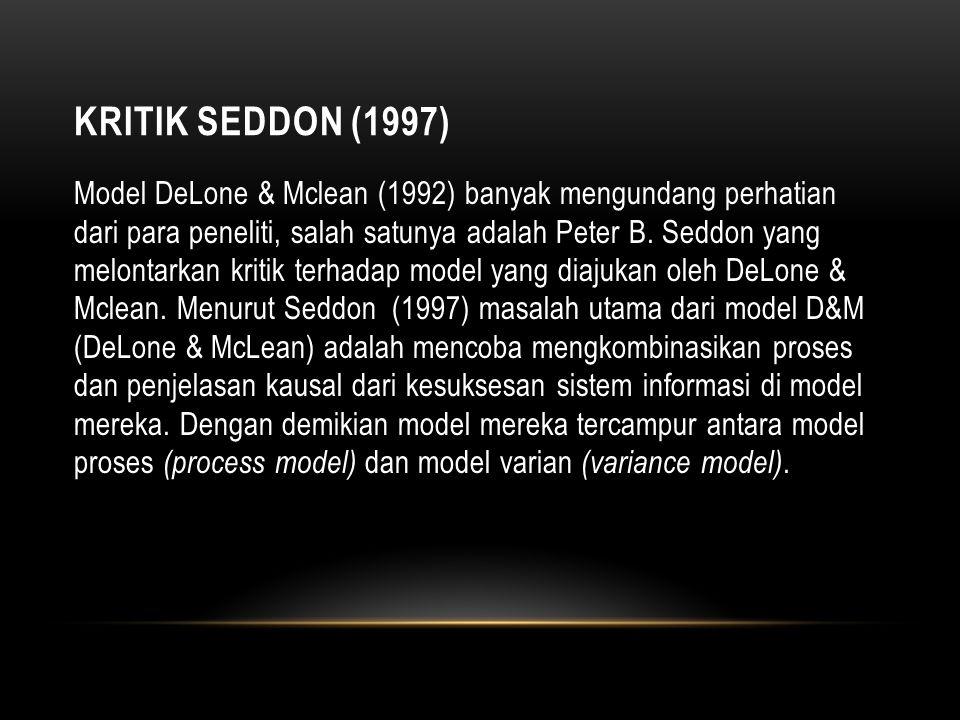Kritik Seddon (1997)