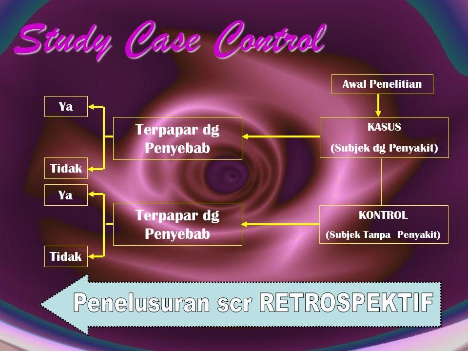 Study Case Control Penelusuran scr RETROSPEKTIF Terpapar dg Penyebab
