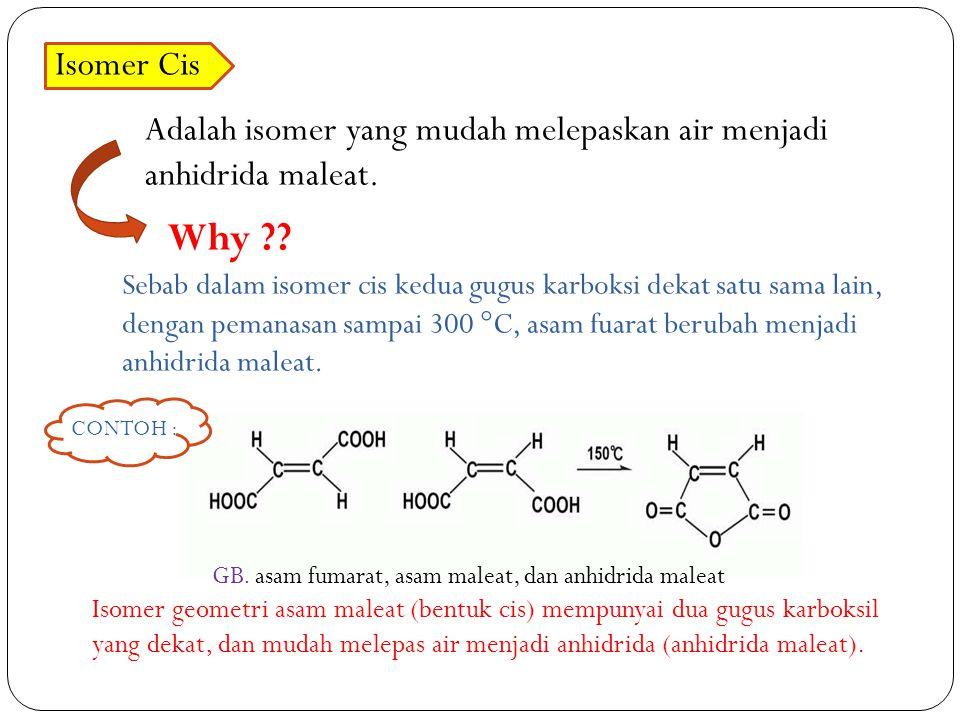 Why Isomer Cis Adalah isomer yang mudah melepaskan air menjadi