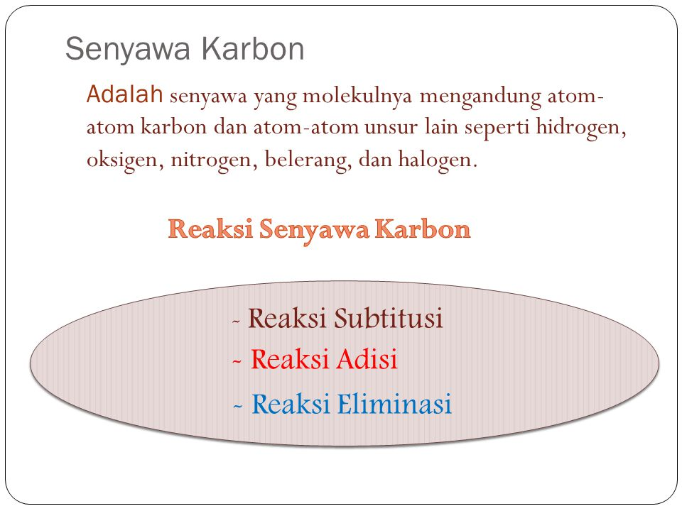 Senyawa Karbon Reaksi Senyawa Karbon Reaksi Adisi Reaksi Eliminasi