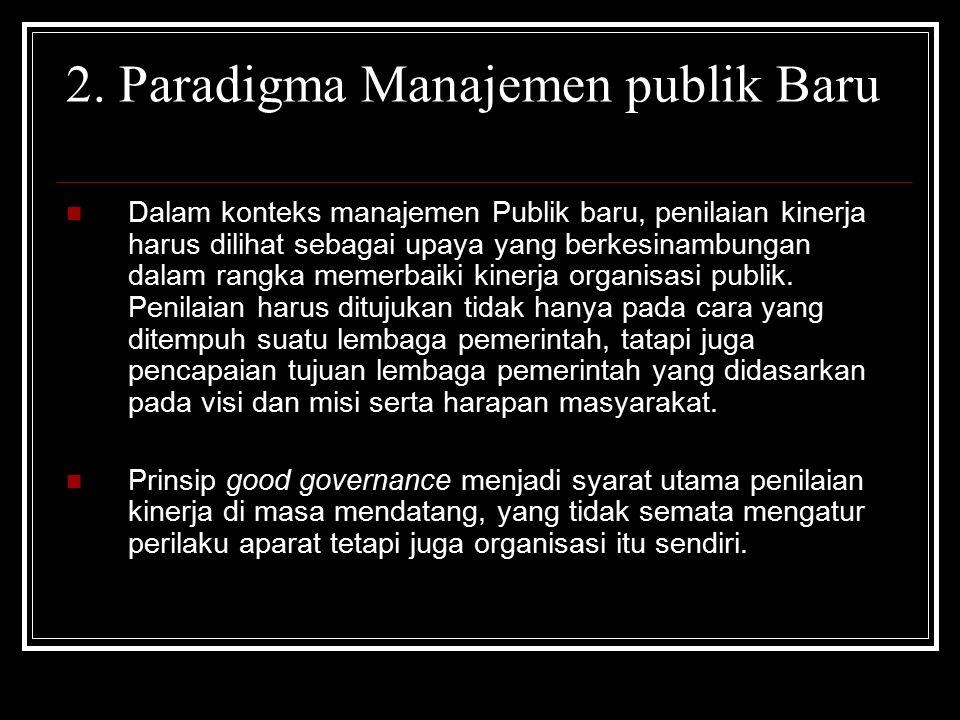 2. Paradigma Manajemen publik Baru