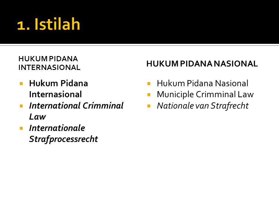 1. Istilah Hukum Pidana Internasional International Crimminal Law
