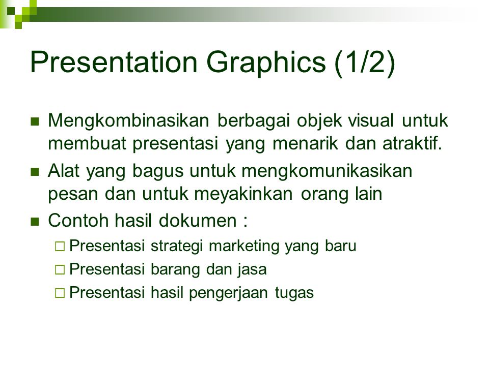 Presentation Graphics (1/2)