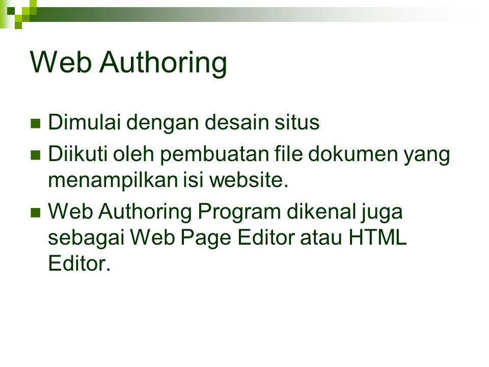 Web Authoring Dimulai dengan desain situs
