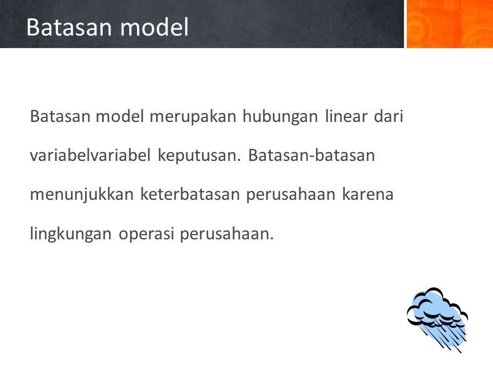 Batasan model