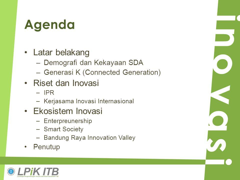Agenda Latar belakang Riset dan Inovasi Ekosistem Inovasi