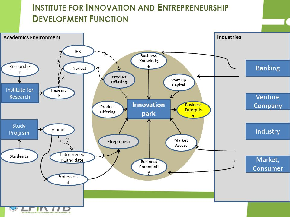 Institute for Innovation and Entrepreneurship Development Function
