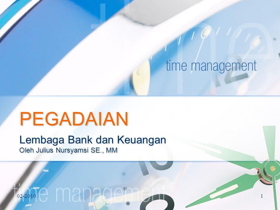 Lembaga Bank dan Keuangan Oleh Julius Nursyamsi SE., MM