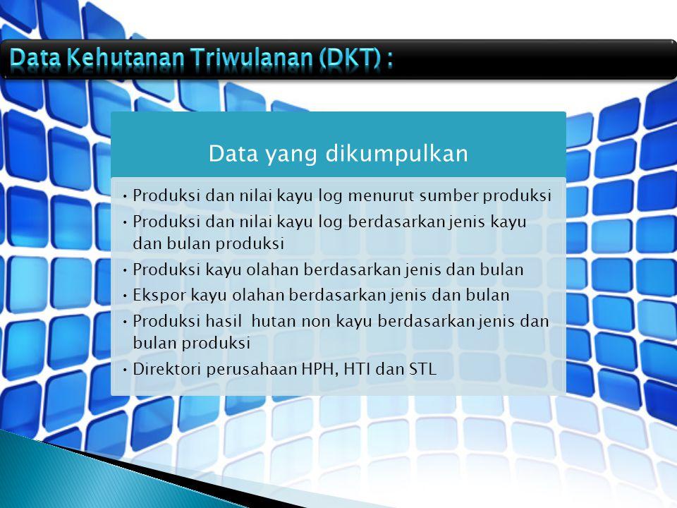 Data Kehutanan Triwulanan (DKT) : Data yang dikumpulkan