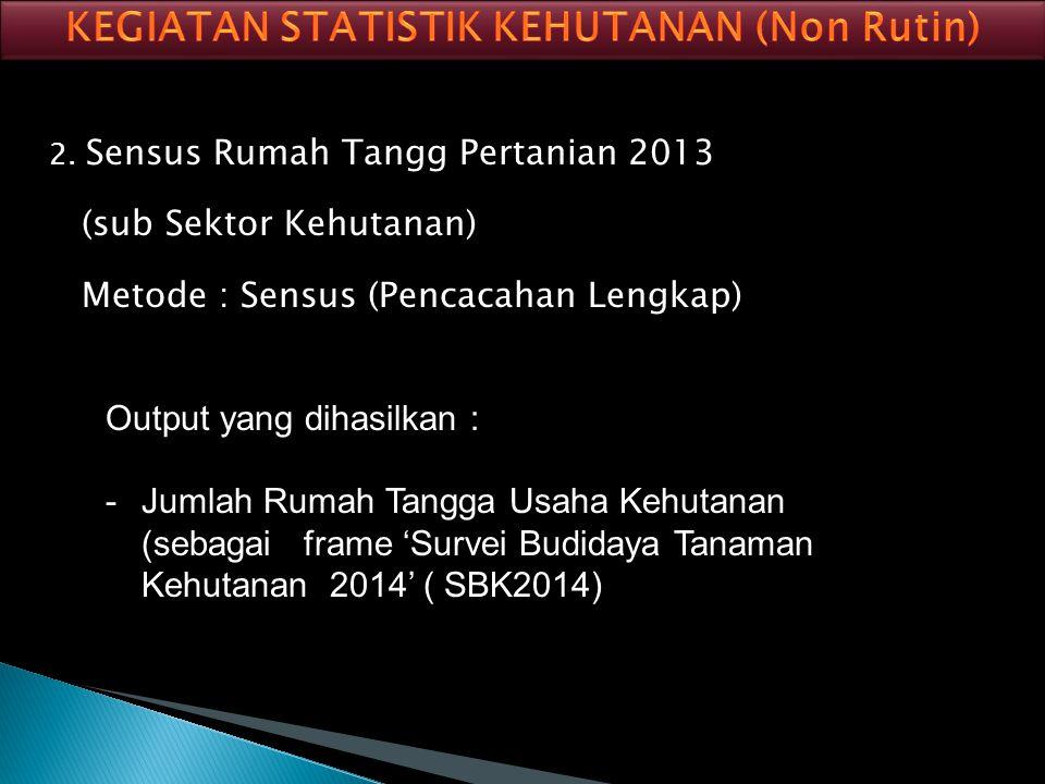 KEGIATAN STATISTIK KEHUTANAN (Non Rutin)