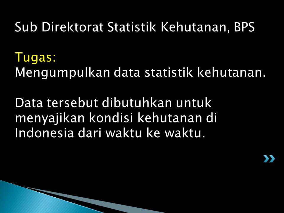 Sub Direktorat Statistik Kehutanan, BPS