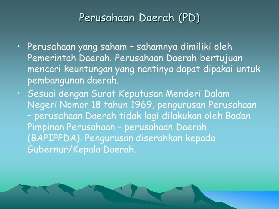 Perusahaan Daerah (PD)