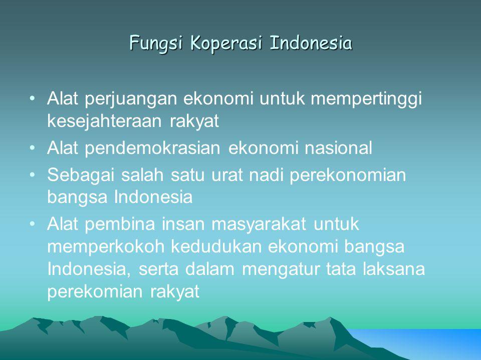 Fungsi Koperasi Indonesia