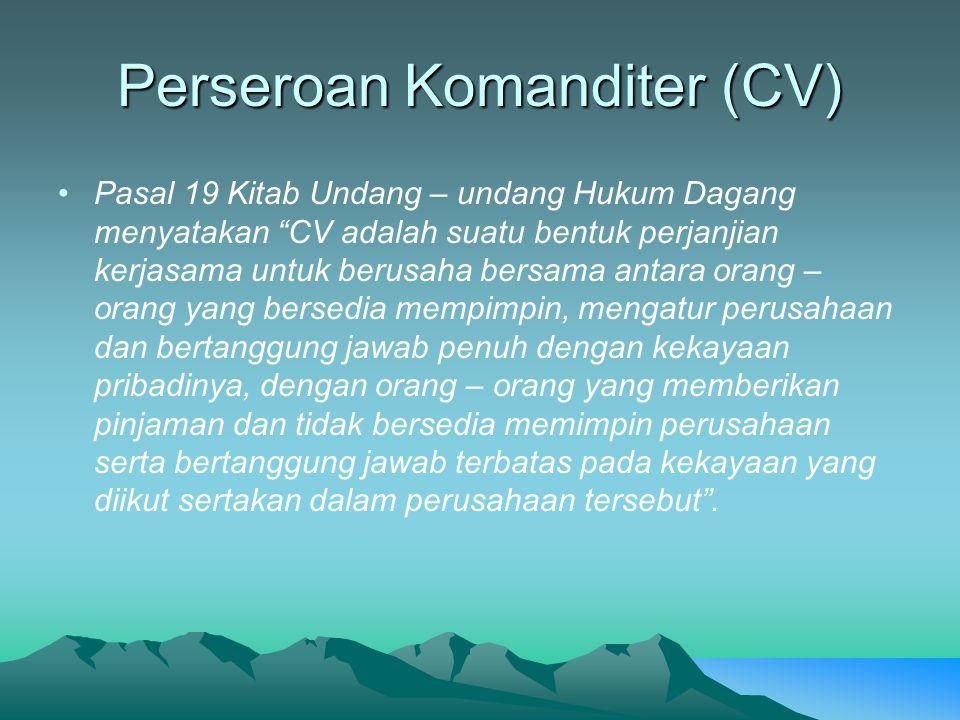 Perseroan Komanditer (CV)