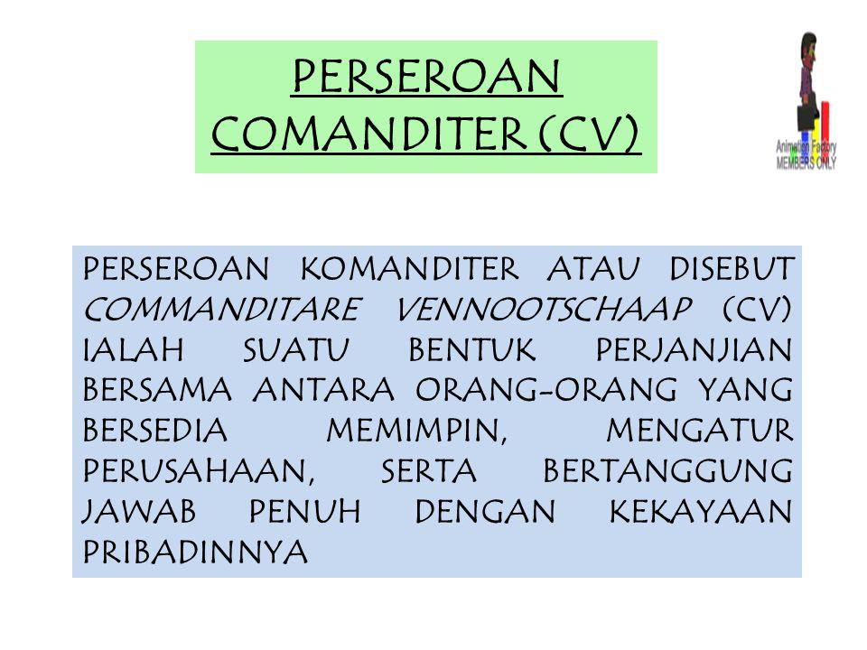 PERSEROAN COMANDITER (CV)