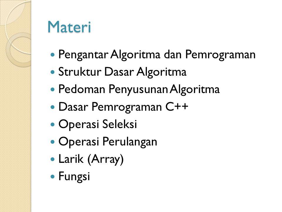 Materi Pengantar Algoritma dan Pemrograman Struktur Dasar Algoritma