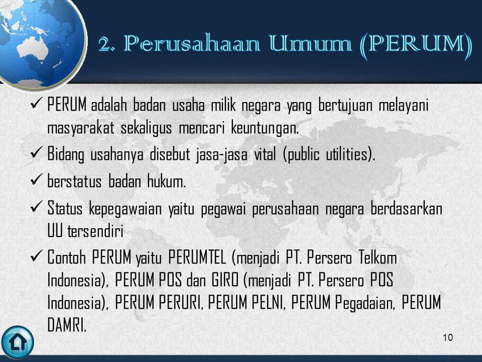 2. Perusahaan Umum (PERUM)