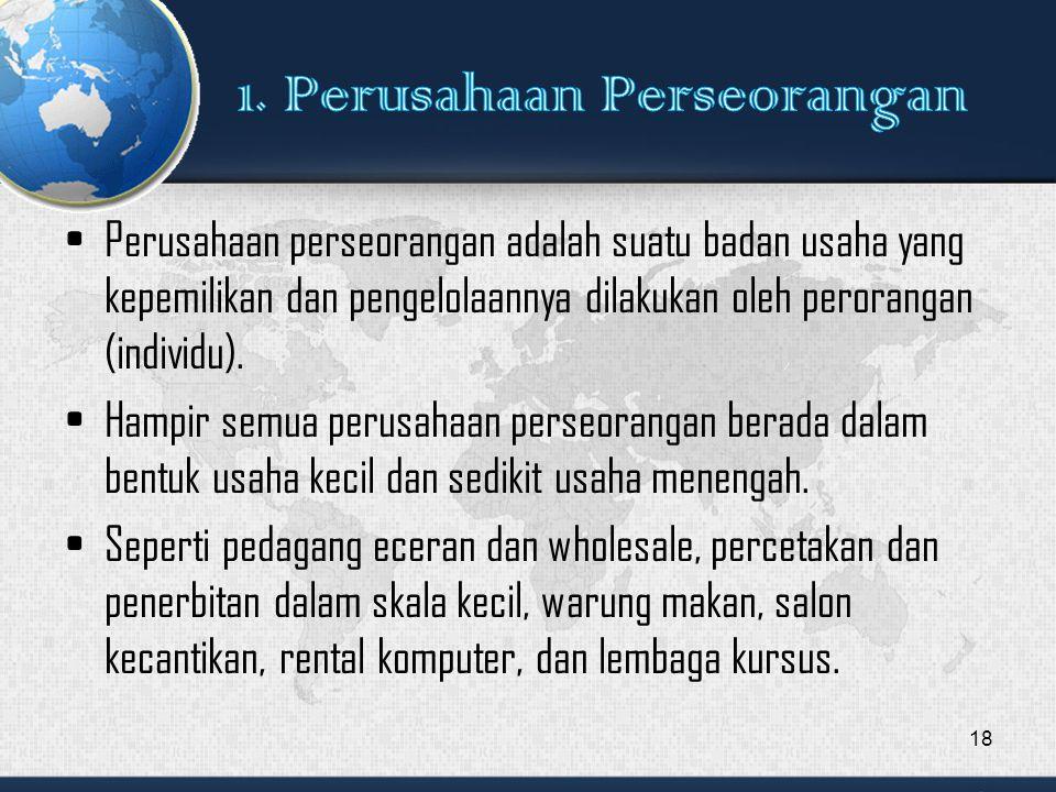 1. Perusahaan Perseorangan