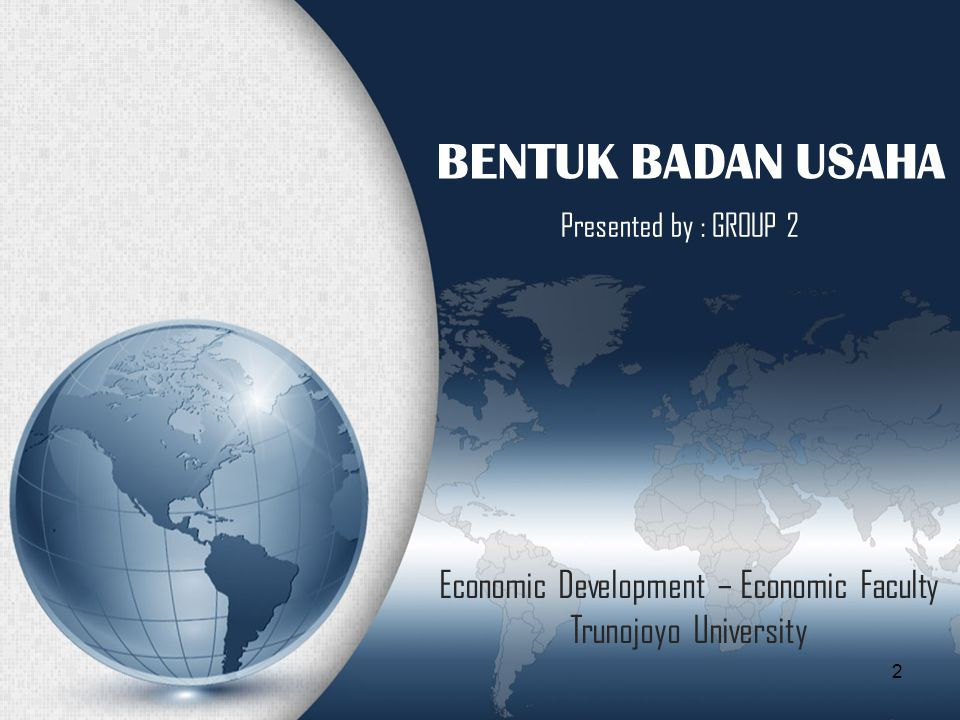 Economic Development – Economic Faculty