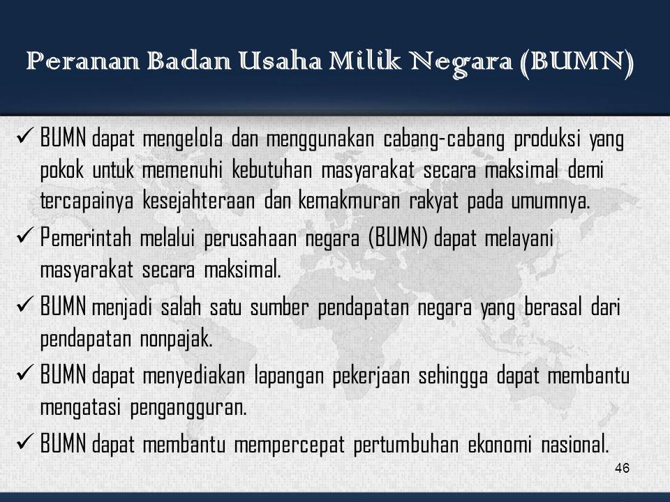 Peranan Badan Usaha Milik Negara (BUMN)