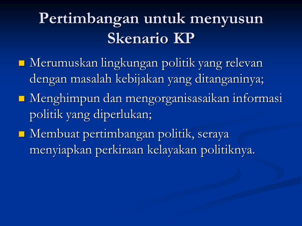 Pertimbangan untuk menyusun Skenario KP