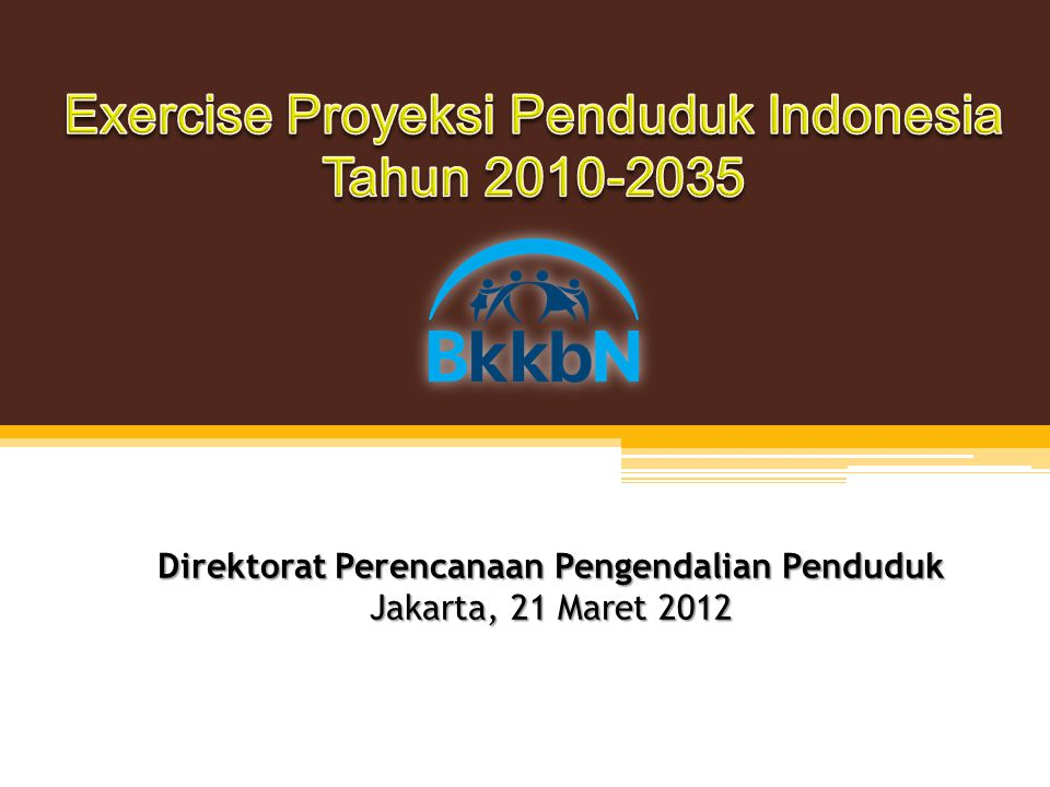 Exercise Proyeksi Penduduk Indonesia Tahun 2010-2035