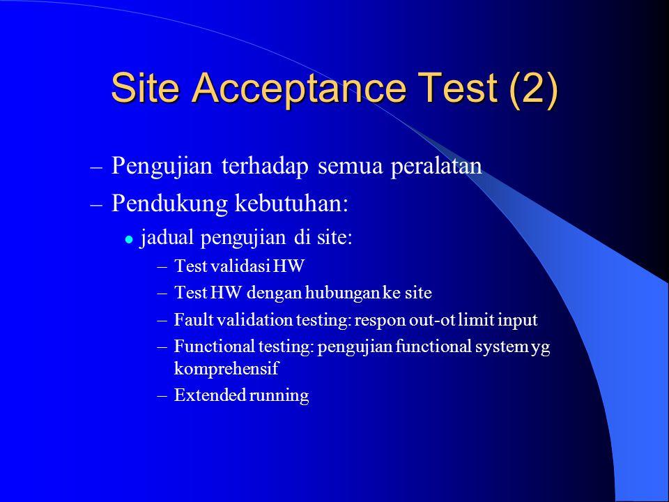 Site Acceptance Test (2)