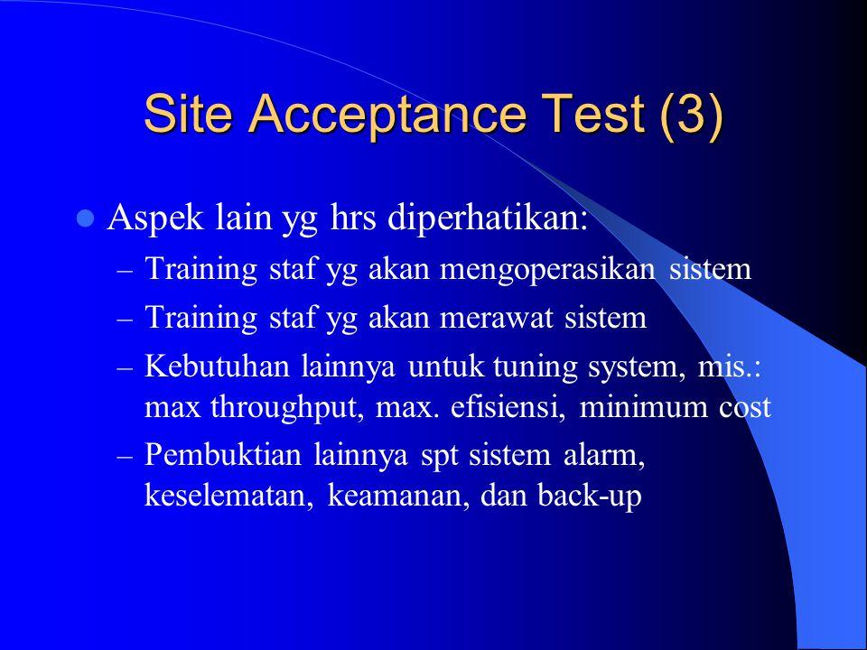 Site Acceptance Test (3)