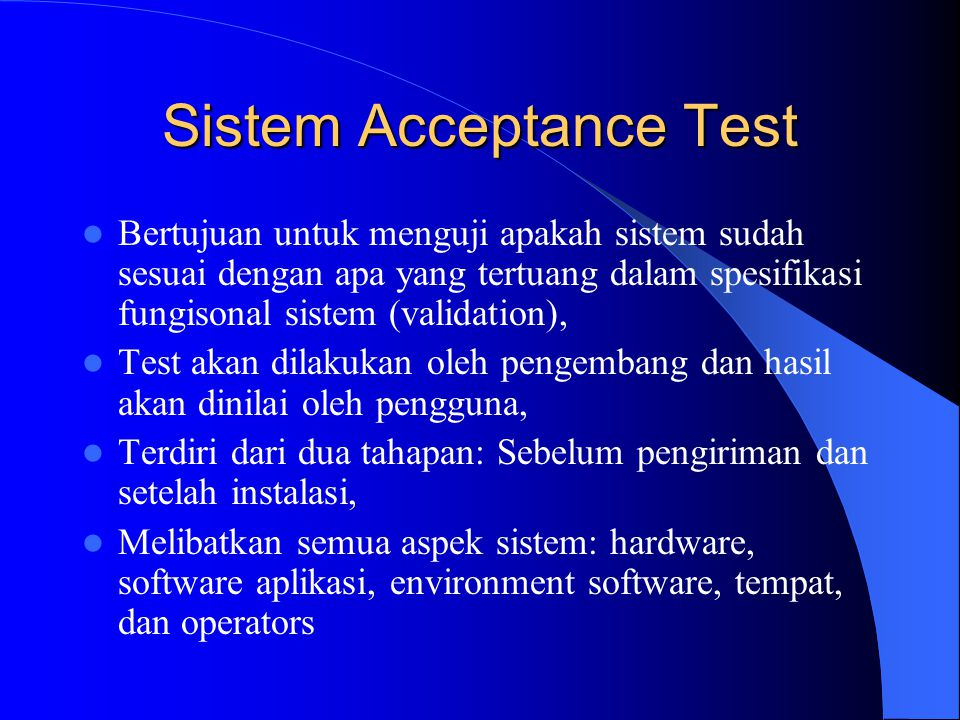 Sistem Acceptance Test