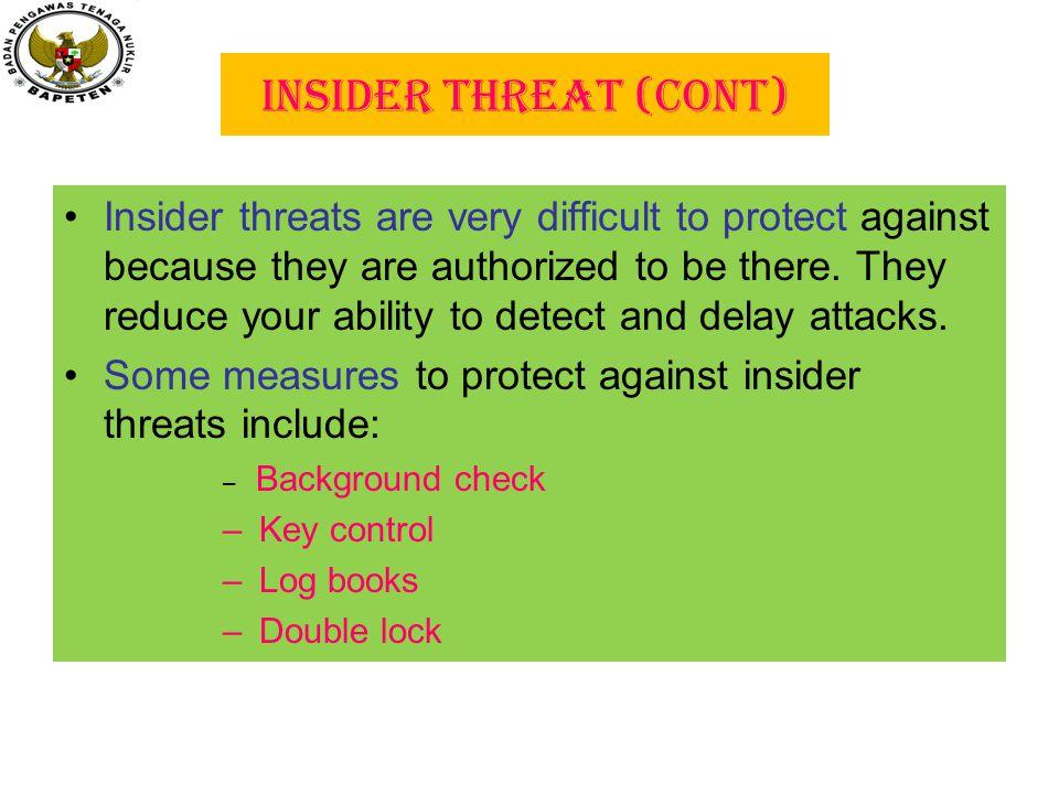 Insider Threat (cont)